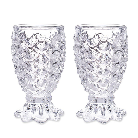 Paradise Pineapple Cocktail Glasses - Set of 2 - 10 oz
