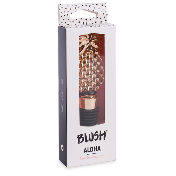 Aloha Pineapple Bottle Stopper with Gold Finish
