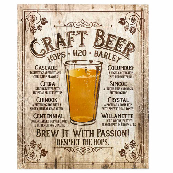 Brew It With Passion Metal Bar Sign