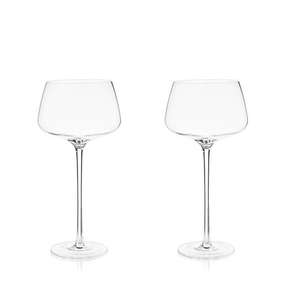 Viski Raye Amaro Spritz Long Stemmed Crystal Cocktail Glasses - 16 oz - Set of 2