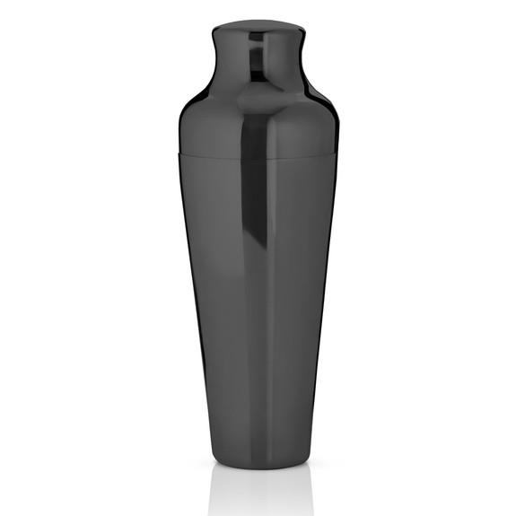 Viski Warren Gunmetal Black Two-Piece French Style Parisian Cocktail Shaker - 25 oz