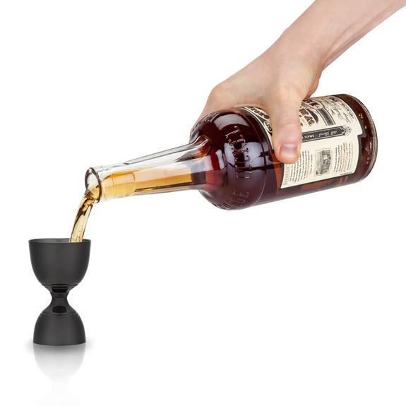 Viski Warren Gunmetal Black Canterbury Double-Sided Cocktail Jigger - 1 oz & 2 oz