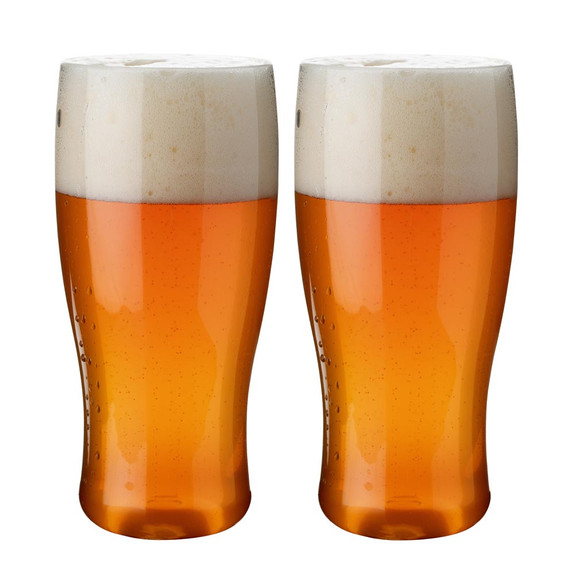 Flexi Imperial Pint Reusable Plastic Beer Glasses - 20 oz - Set of 2 - BPA-Free