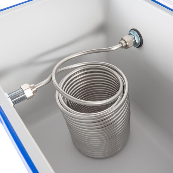 Double Faucet Jockey Box - 70' Coils - Faucet Hardware Kit
