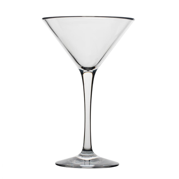 Libbey Infinium Reusable Tritan Plastic Martini Glass - 8 oz