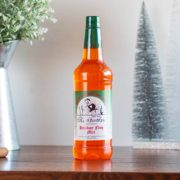 Fee Brothers Holiday Nog Cocktail Mix - 32 oz - Dairy & Egg Free