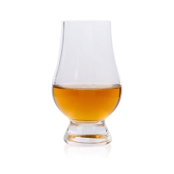 Oak Barrel Stave Whiskey Tasting Flight Set with 4 Wee Glencairn Whisky Glasses