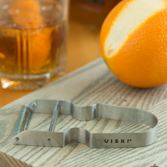 Viski Professional Stainless Steel Citrus Garnish Peeler