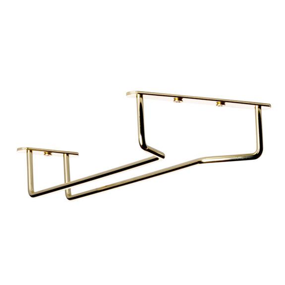 "Glass Hanger Rack - Brass - 10""L"