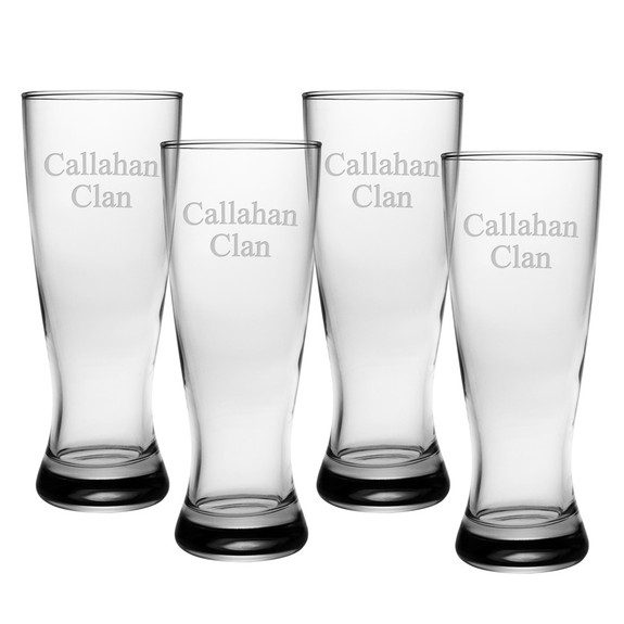 Grand Pilsner Glasses - Set of 4 (Free Personalization)
