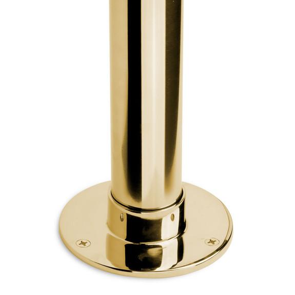 "5"" Heavy Duty Floor / Ceiling Flange - Polished Brass - 2"" OD"