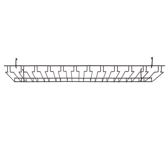 11 Channel Overhead Glass Rack - Oil Rubbed Bronze
