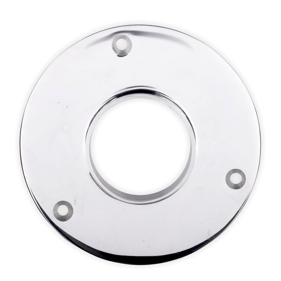 "5"" Heavy Duty Floor / Ceiling Flange - Polished Stainless Steel - 2"" OD"