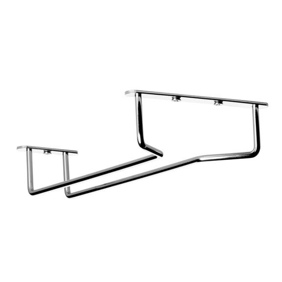 """Glass Hanger Rack - Chrome - 10""""L"""