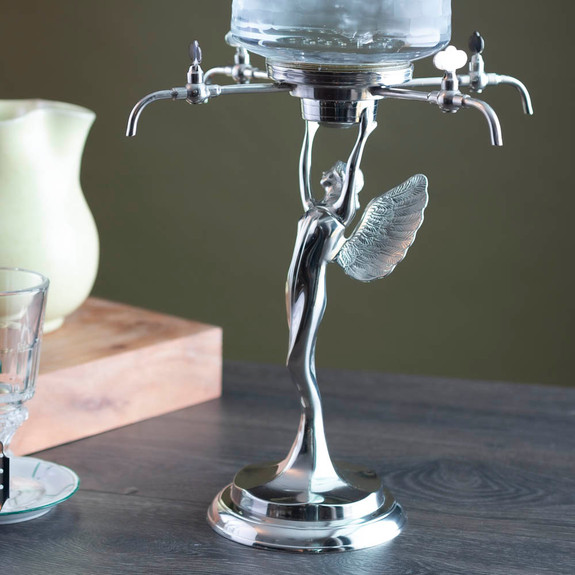 Decorative Metal Fairy Absinthe Fountain - Four Faucets