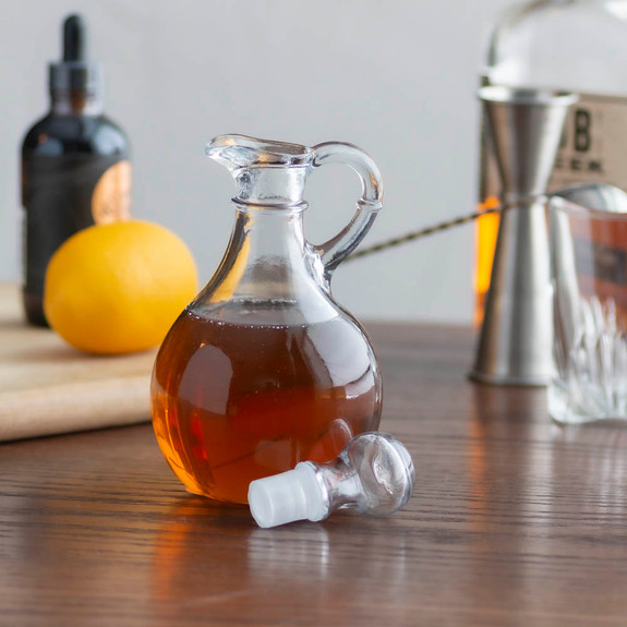 Glass Cocktail Bitters & Bar Syrup Bottle with Stopper - 10 oz
