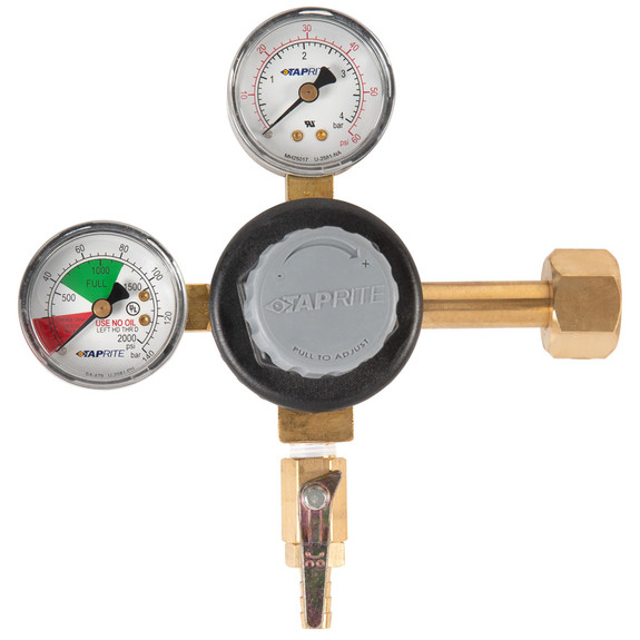 Premium Double Gauge CO2 Regulator - Polycarbonate Bonnet