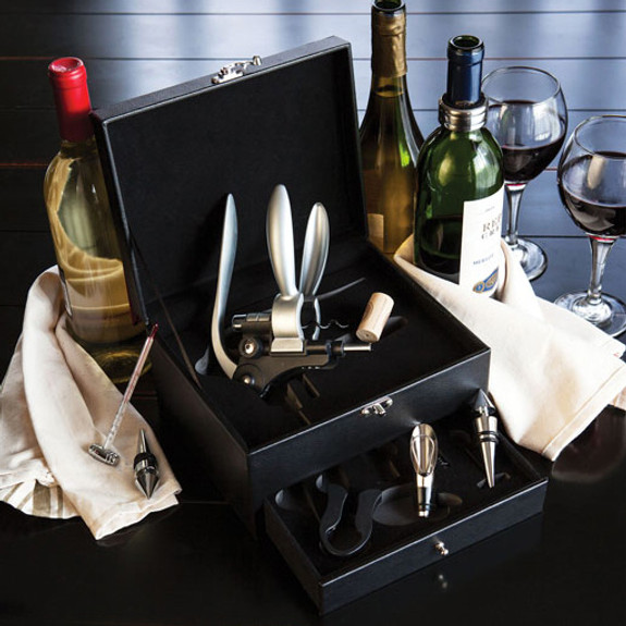 Picnic Time Cabernet Wine Tool Box Set - 8 Pieces