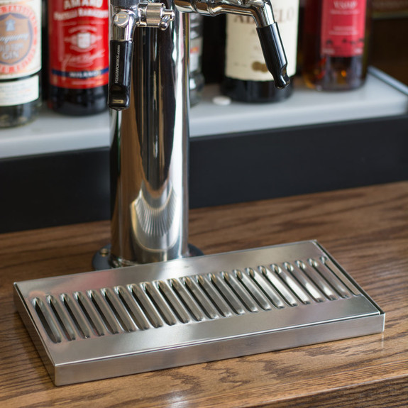 """12"""" Surface Mount Drip Tray - Stainless Steel - No Drain"""