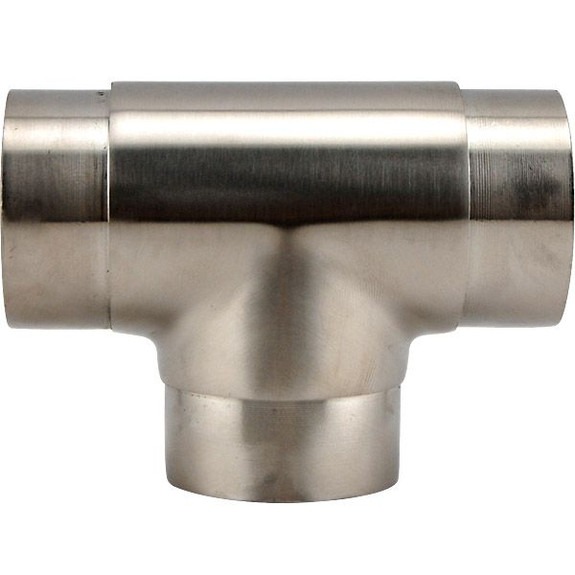 Brushed Steel Arm Rail Fitting