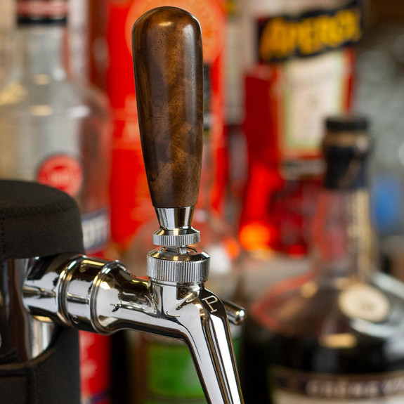 "KegWorks 3"" Wood Beer Tap Handle - Burled Walnut"