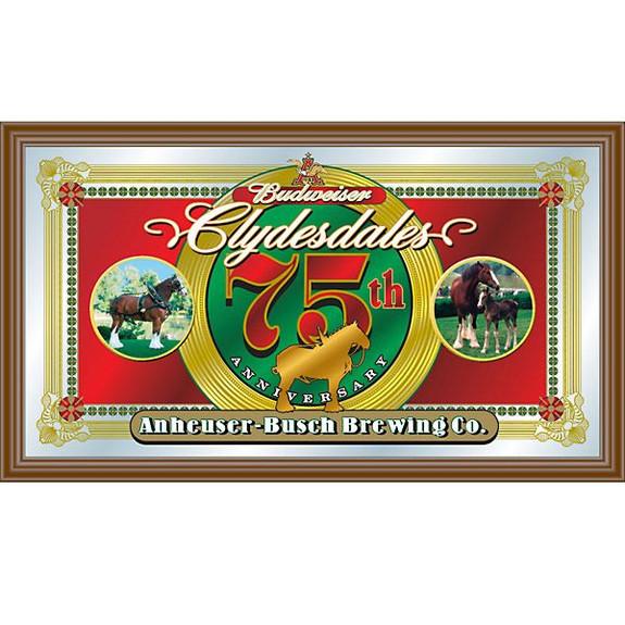 Budweiser Clydesdales 75th Anniversary Bar Mirror