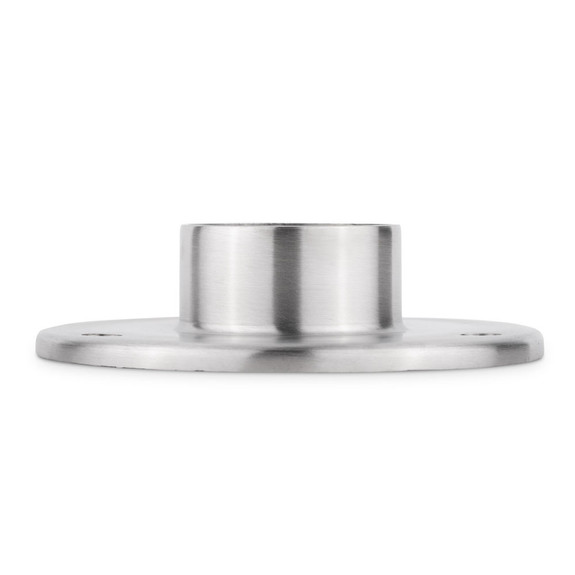 "5"" Heavy Duty Floor / Ceiling Flange - Brushed Stainless Steel - 2"" OD"