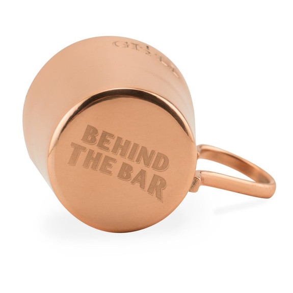 Behind The Bar�� Copper Naval Rum Measure - Half Gill - 2.5 oz