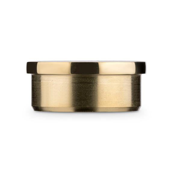"""Flush Flat End Cap - Polished Brass - 1.5"""" OD"""