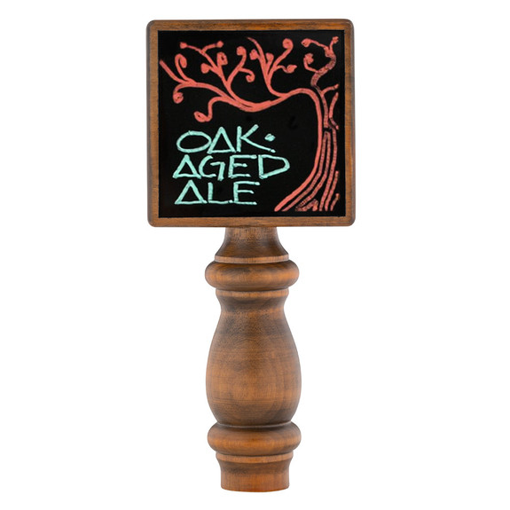 Tap Board Black Dry Erase Tap Handle on Table
