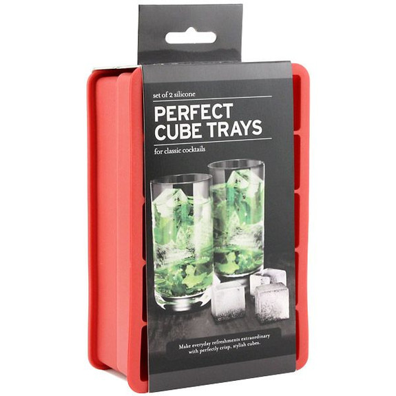 Tovolo Perfect Cube Ice Trays (Set of 2) - Red in Box