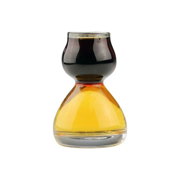 Quaffer Glass Double Bubble Layered Shot Glass