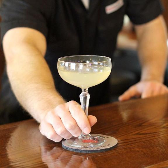 Libbey Speakeasy Prohibition Era Coupe Glass on Bar