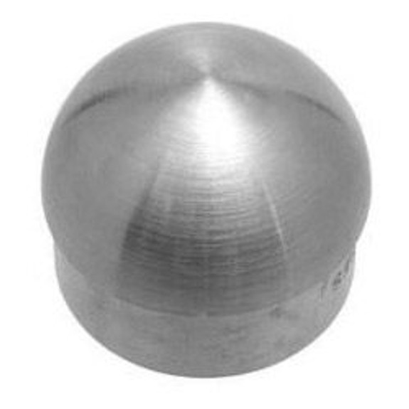 """Domed End Cap - Brushed (Satin) Stainless Steel - 1.5"""" OD"""