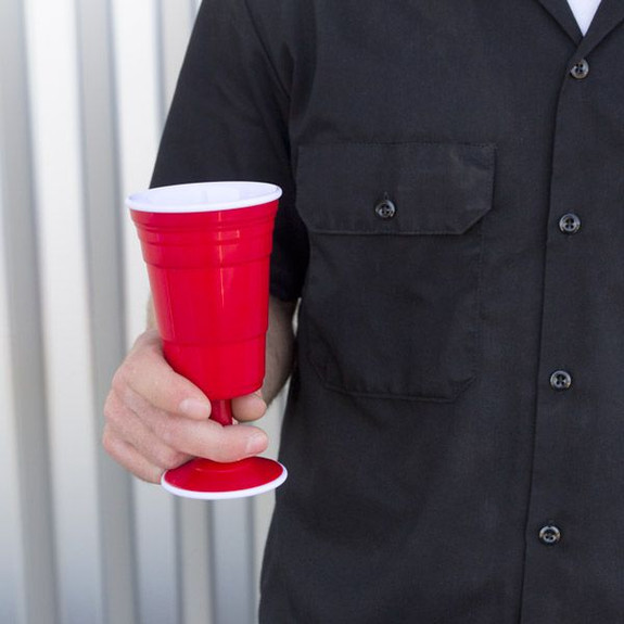 Wine Reusable Red Cup in Hand