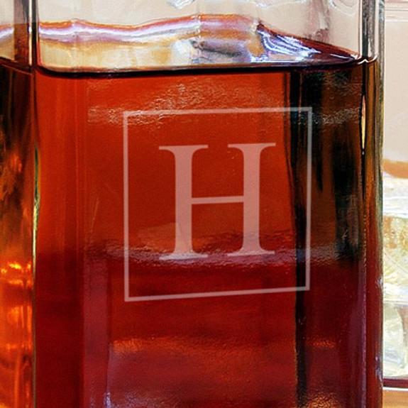 Personalized Square Liquor Decanter Close Up