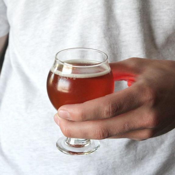 Libbey Belgian Beer Taster Glass in Hand