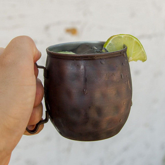 Moscow Mule Hammered Antique Copper Mug - 12 oz