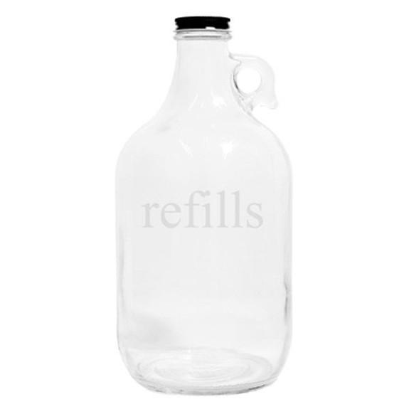 Refills Clear Glass Beer Growler Empty
