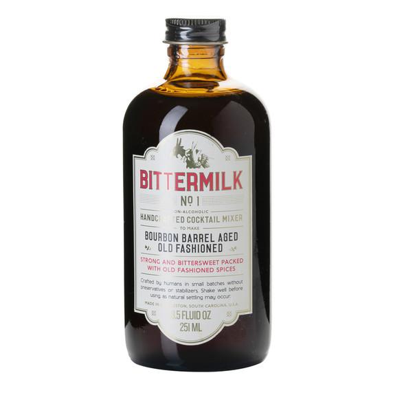 Bittermilk No.1 Bourbon Barrel Aged Old Fashioned Cocktail Mixer - 8.5 oz