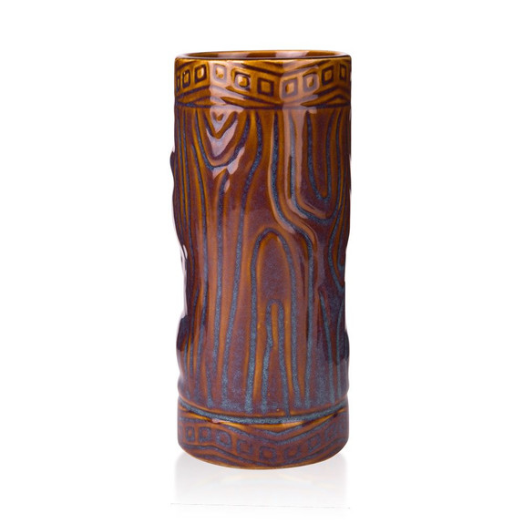 Libbey Ceramic Tiki Mug Tumbler - 20 oz - Brown