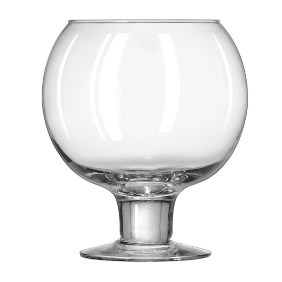 Libbey Super Globe Footed Fish Bowl Glass - 51 oz - Hand Blown