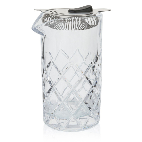 Yarai Cocktail Mixing Glass with Stainless Steel Strainer - 600ml