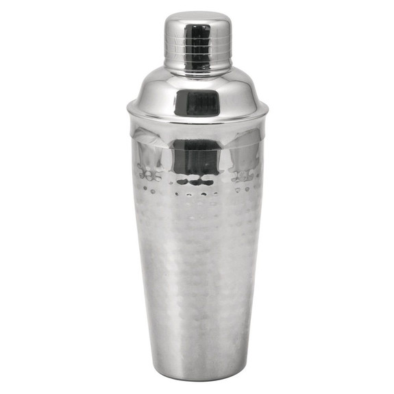 Hammered Stainless Steel Cocktail Shaker - 24 oz