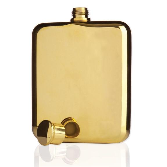 Viski Belmont 14k Gold Plated Flask - 6 oz