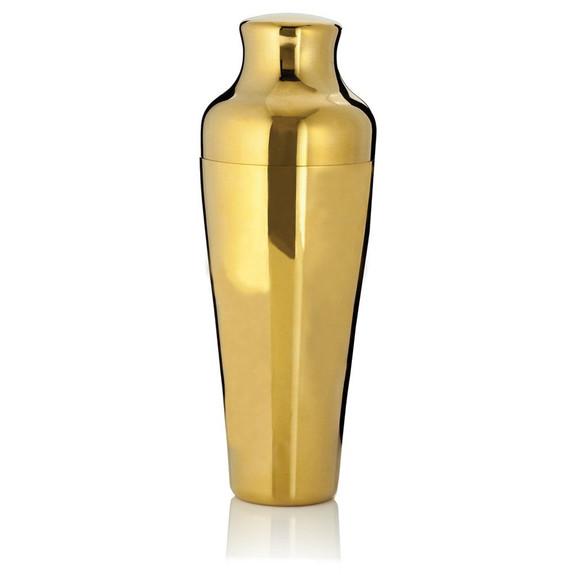Viski Belmont Gold Colored Cocktail Shaker - Stainless Steel - 25 oz