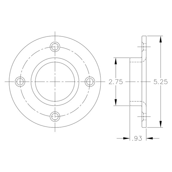 Flange for Black Pipe Foot Rail