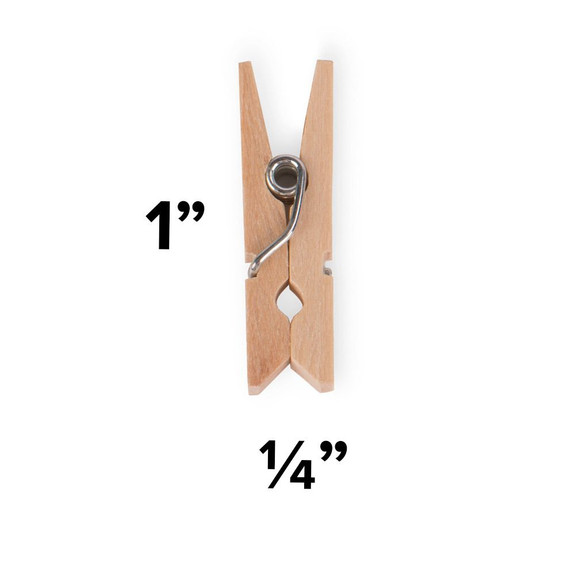 Mini Wooden Clothespins For Cocktail Garnishes - Pack of 50