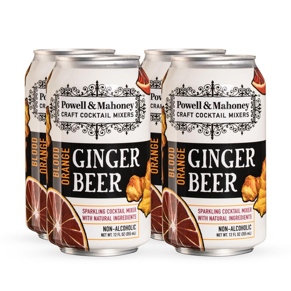 Powell & Mahoney Blood Orange Ginger Beer - 12 oz Cans - 4-Pack