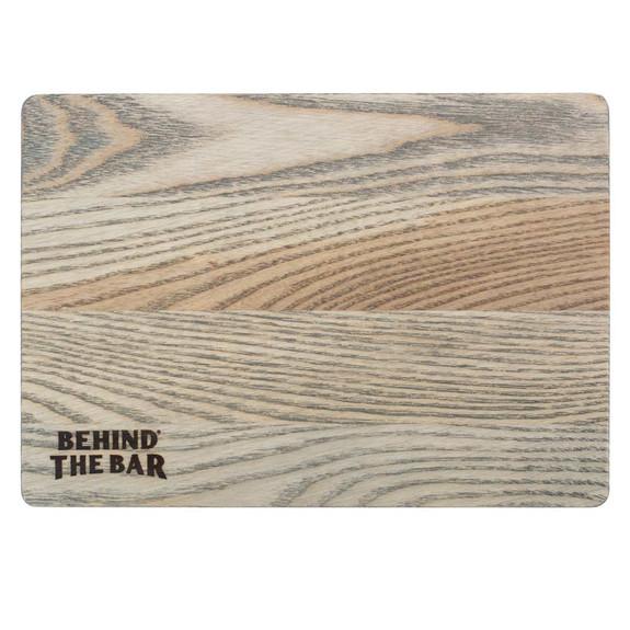 "Behind The Bar�� Premium Ash Wood Bar Cutting Board - 10"" x 7"" - Driftwood Teak Oil Finish"